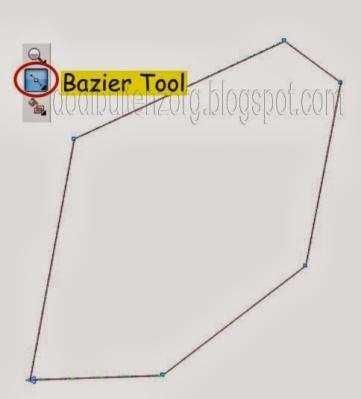 Membuat Objek Dengan Bazier Tool
